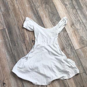 White brandy Melville off the shoulder dress
